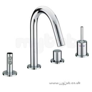 Bristan Brassware -  Soprano 4 Hole Bath Shower Mixer Cp