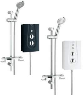 Bristan Electric Showers -  Bristan Glee 8.5 Kw White Gle85 W