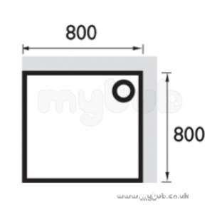 Bristan Showering -  Square Stw 800 X 800mm Shower Tray Wh