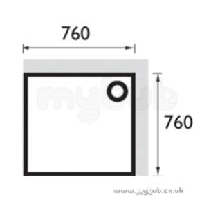Bristan Showering -  Square Stw 760 X 760mm Shower Tray Wh