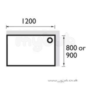 Bristan Showering -  Extended Stw128 1200 X 800mm Shower Tray