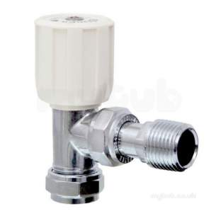 Terrier and Belmont Radiator Valves -  Terrier 367 15mm X 1/2 Inch Mi Angl Wh Chrome