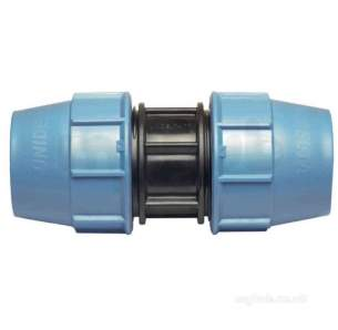 Radius Mdpe Fittings Black -  Puriton Plstic Comp Fitting 25mm Coupler