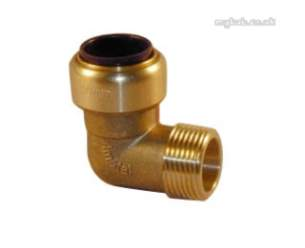 Yorkshire Tectite Fittings -  Yorks Tectite Tx13 22mm X 3/4 Inch Mi Elbow