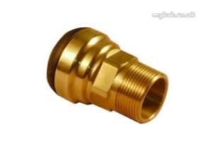 Yorkshire Tectite Fittings -  Tect Pro Tx3 Mi Str Connector 35x1.1/4
