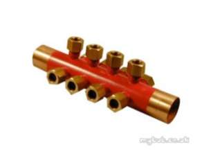 Yorkshire Microbore Fittings manifolds -  Pegler Yorkshire Microbore Wm8 22mm Micrafold