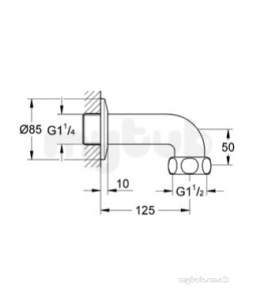 Grohe Parts and Spares -  Grohe Outlet Elbow 12432000