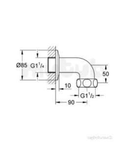 Grohe Parts and Spares -  Grohe Outlet Elbow 12436000
