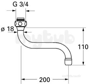 Grohe Parts and Spares -  Grohe Spout 13084000
