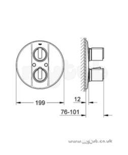 Grohe Shower Valves -  Grohe G2000 19355 Bath Trim Set 19355000