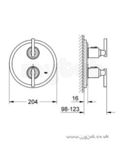 Grohe Shower Valves -  Grohe Atrio Jota 19399 Bath Trim