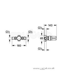 Grohe Shower Valves -  Grohe Auto 2000 34309 In-line 1/2 Inch Therm D08