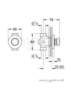 Grohe Shower Valves -  Contrpress 36186 1/2 Inch T/flow Shower Exp