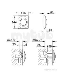 Grohe Parts and Spares -  Grohe Top Plate 37018sp0