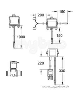 Grohe Commercial Products -  Radar Urinal 38386 Activation And Valve