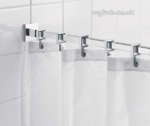 Croydex Shower Curtains and Rails -  Croydex Ad116441 Luxury Square Rod