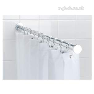 Croydex Shower Curtains and Rails -  Croydex Ad117041 Luxury Spigot Rod