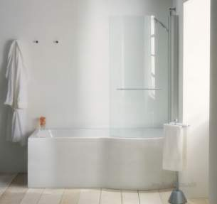 Adamsez Baths and Panels -  Adamsez Mezza P43e End Panel Wh P43e Wh