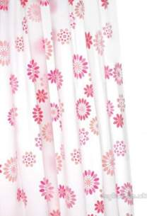 Croydex Shower Curtains and Rails -  Croydex Ae282823 Peva Curtain Pop Flowrs
