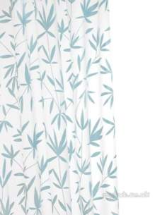Croydex Shower Curtains and Rails -  Croydex Ae282924 Peva Curtain Bamboo Blu Obsolete