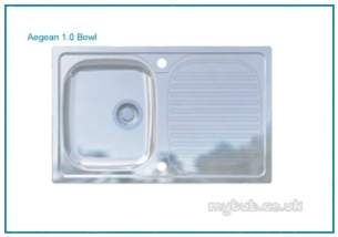Astracast Contract Sinks -  Aegean 1.0b 965x500mm Sink Satin
