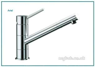 Astracast Brassware -  Ariel Tp0604 Single Lever Tap Brushed