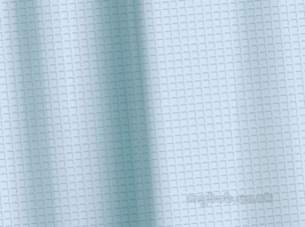 Croydex Shower Curtains and Rails -  Croydex Waffle 180cmx180cm Shower Curt Blue
