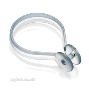 Croydex Shower Curtains and Rails -  Croydex Ak142232 Shower Curtain Rings