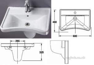 Akw Level Access Showering -  Akw Washbasin Ergonomic Concave 23115