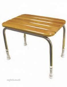 Akw Medicare Products -  05080 Free St Plus Ing Wooden Slatted Stool