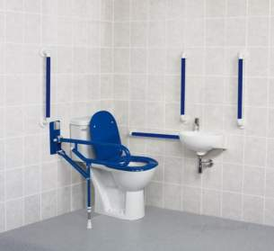 Akw Level Access Showering -  Akw Close Coupled Standard Doc M Pk Blue