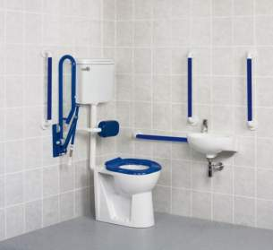 Akw Level Access Showering -  Akw Low Level Standard Doc M Pack-blue