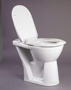 Akw Level Access Showering -  Akw Ergonomic Toilet Seat With Lid Wh