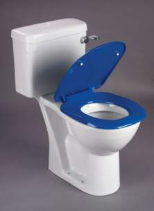 Akw Level Access Showering -  Akw Ergonomic Toilet Seat With Lid Blue