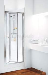 Coram Shower Pods -  Coram 900 Alcove Bi-fold Door Pod Ps/cl Door Only