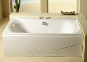 Eastbrook Baths -  23.4101 Alpha Bath 1700 X 750 5mm White