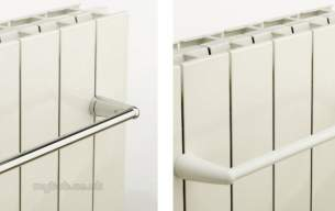 The Radiator Company Towel Warmers and Decorative Rads -  Hanging Bar 480mm White For Oscar