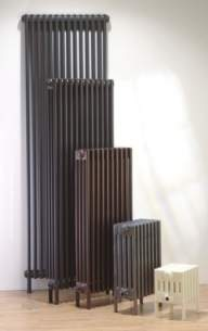The Radiator Company Towel Warmers and Decorative Rads -  Ancona 600/2 20 Sec With Welded Feet