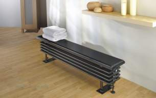 The Radiator Company Towel Warmers and Decorative Rads -  Ancona Bench Seat 388x184x2600 X 250 Ral