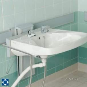 Armitage Shanks Commercial Sanitaryware -  Armitage Shanks Gas Brack 50cm Portman 21 Vertical Adj