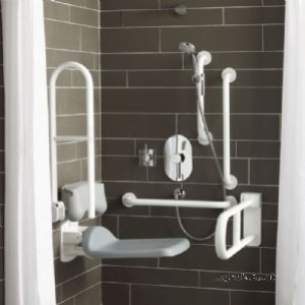 Armitage Shanks Doc M Packs -  Armitage Shanks Contour 21 S6960 Doc M Grey Rails Shower