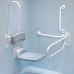 Armitage Grips Levers and Wastes -  Armitage Shanks S6750 1200 X 1200mm Shower Curtain Wh