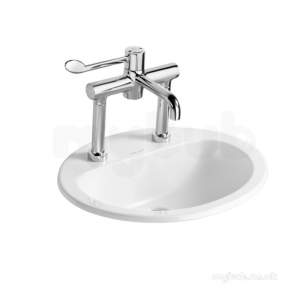 Armitage Shanks Commercial Sanitaryware -  Armitage Shanks Orbit 21 S2487 Ctop 55 White 1th Nof
