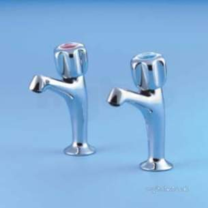 Armitage Shanks Commercial Brassware -  Armitage Shanks Nuastyle S7116 1/2 Inch H/n Pillar Taps Cp