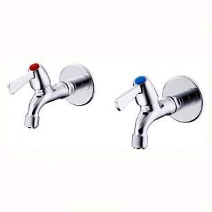 Armitage Shanks Commercial Brassware -  Alterna 21 Bib Taps Exp Chr 1/2 Lever Handles