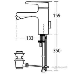 Ideal Standard Art and design Brassware -  Ideal Standard Attitude A4617 Sl 1th Puw Bidet Mixer Cp