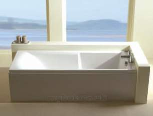Eastbrook Baths -  23.5421 Axis Straight Tg Carronite White