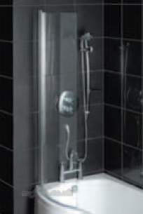Eastbrook Showers -  36.1022 Curved Glass Shower Screen Ch