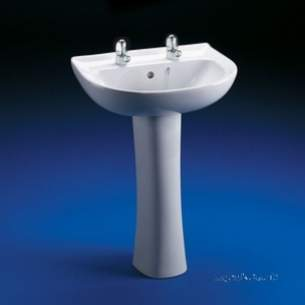 Ideal Standard Baronet -  Ideal Standard New Baronet E2927 560mm Two Tap Holes Basin White