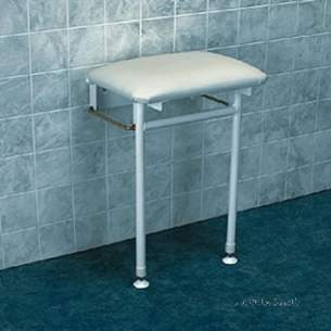 Barwood Special Needs Products -  Cushned Shower Seat C/w Leg And Adj. Feet Wh